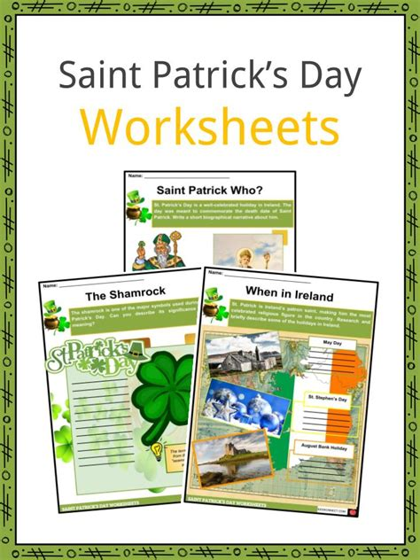 Saint Patrick's Day 2019 Facts, Worksheets & Information
