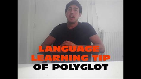 Language learning tip of a polyglot - YouTube