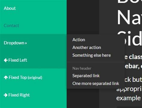 Fixed Sidebar Navigation For Bootstrap | Free jQuery Plugins