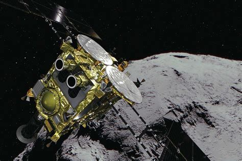 Japan's Hayabusa 2 spacecraft just bombed an asteroid
