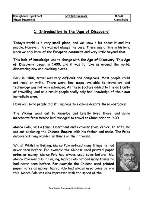 The Age of Discovery & Exploration Facts & Information