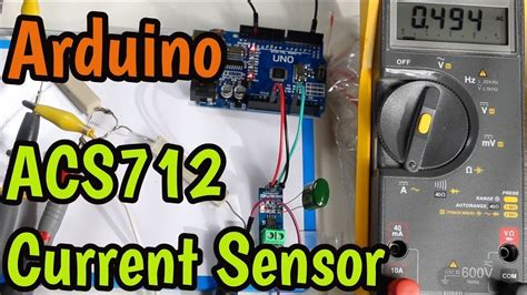 ACS712 Current Sensor with Arduino - Measure AC and DC up