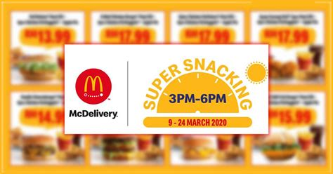 McDelivery Super Snacking & Supper Savers till 24 March 2020