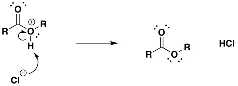 Acid chlorides react with alcohols to form esters