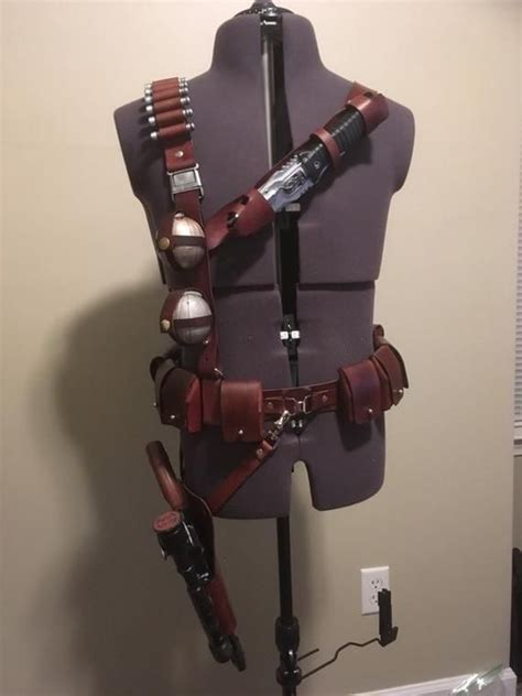 Mandalorian Shoulder Harness and Belt With Holster and