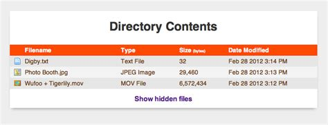 Display Styled Directory Contents   CSS-Tricks
